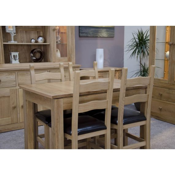 Opus Solid Oak Small Extending Dining Table