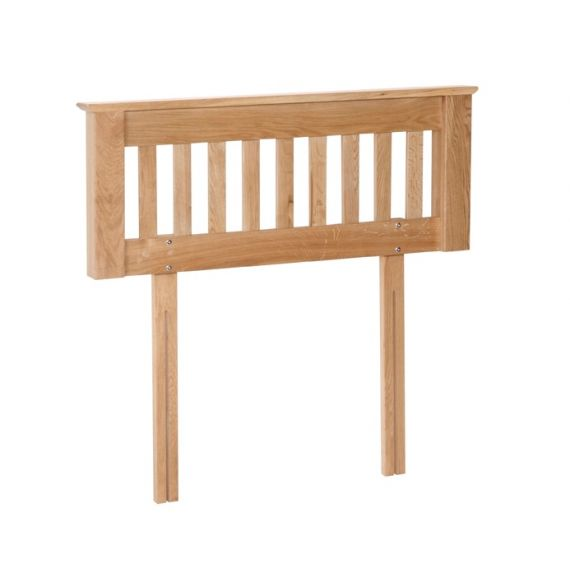 "Oxford Contemporary Oak 4'6"" Double Headboard"