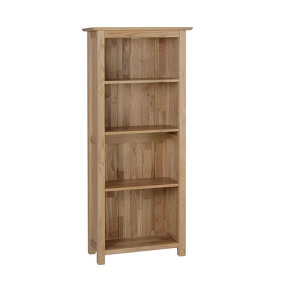 Oxford Contemporary Oak 5ft Narrow Bookcase