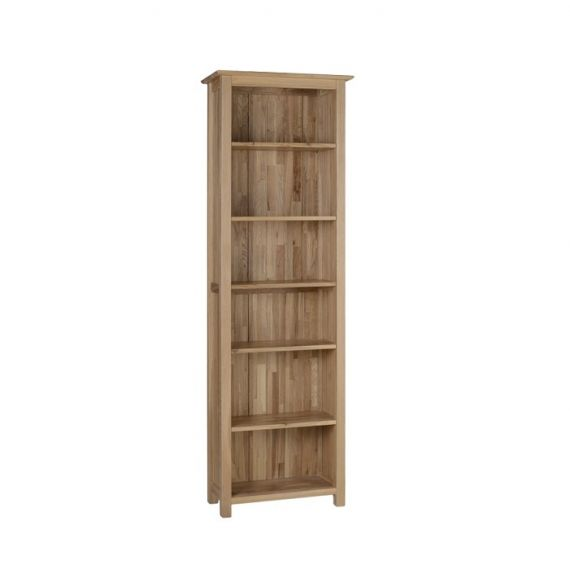 Oxford Contemporary Oak 6ft Tall Narrow Bookcase