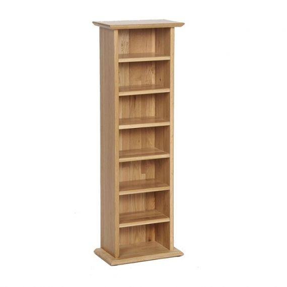 Oxford Contemporary Oak CD-DVD Unit