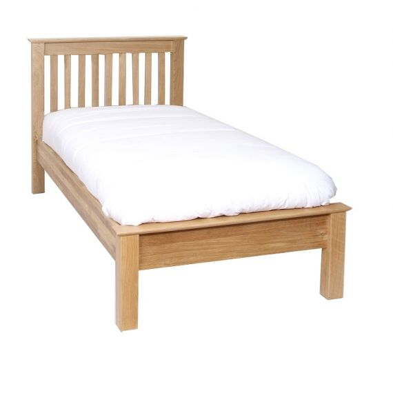 Oxford Contemporary Oak Low Foot End 3' Single Bed