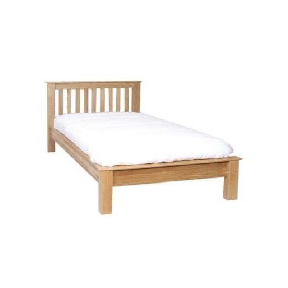 "Oxford Contemporary Oak Low Foot End 4'6"" Double Bed"