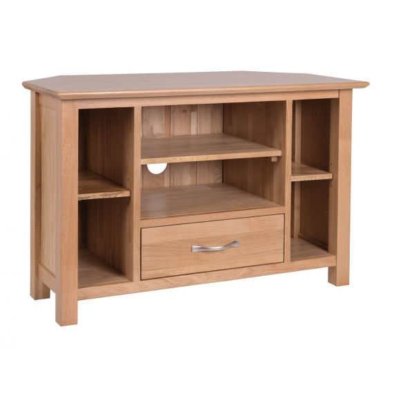 Oxford Contemporary Oak Corner TV Cabinet