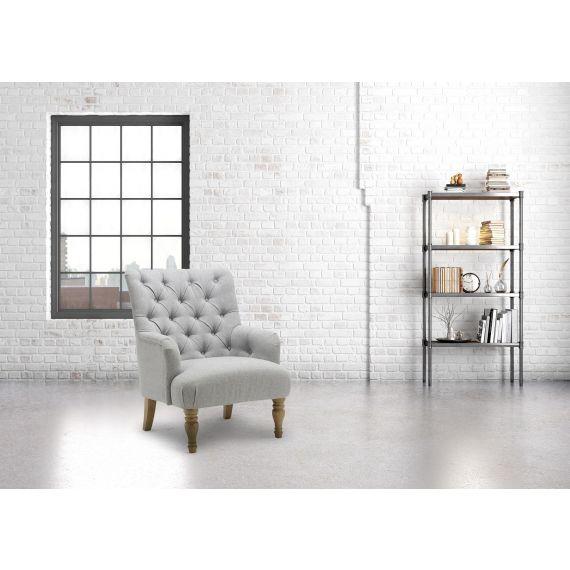 Padstow Fabric Armchair - Grey