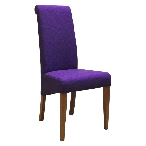Purple Fabric Dining Chair
