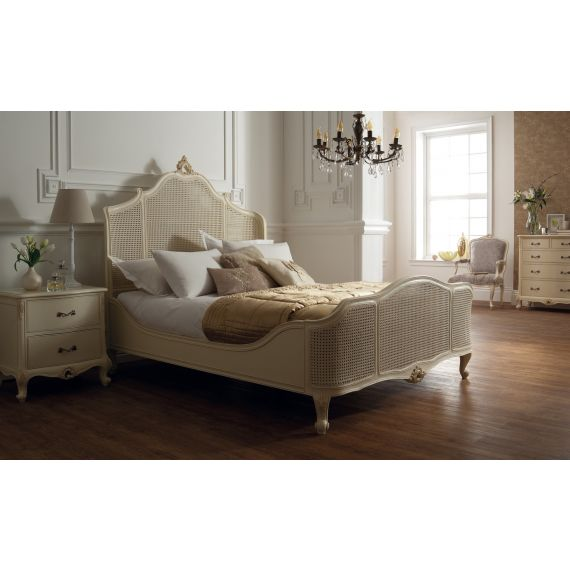 Régency French mid-18th Century Ivory White Bed Cane Panels