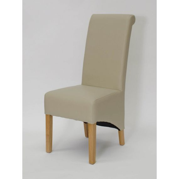 Richmond Bone Matt Leather Dining Chair