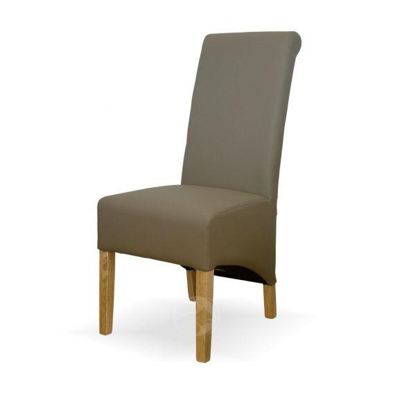 Richmond Mushroom Leather Dining Chair