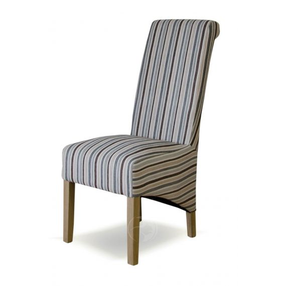 Richmond Natural Striped Fabric Dining Chair