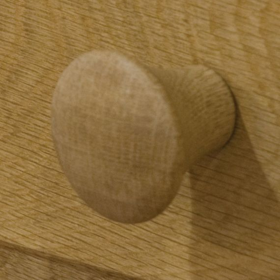 Solid Oak Round Handle