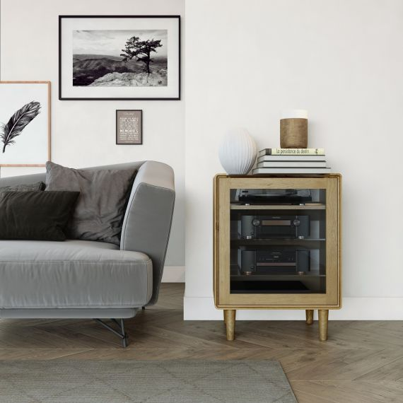Scandic Oak HIFI Unit - Retro Style