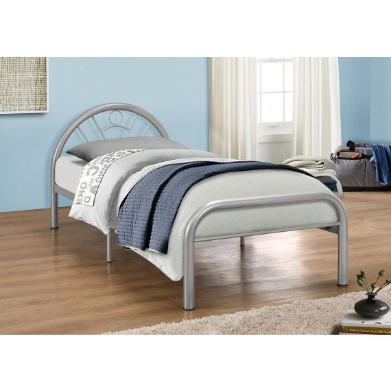 Solo Silver Single Metal Bed