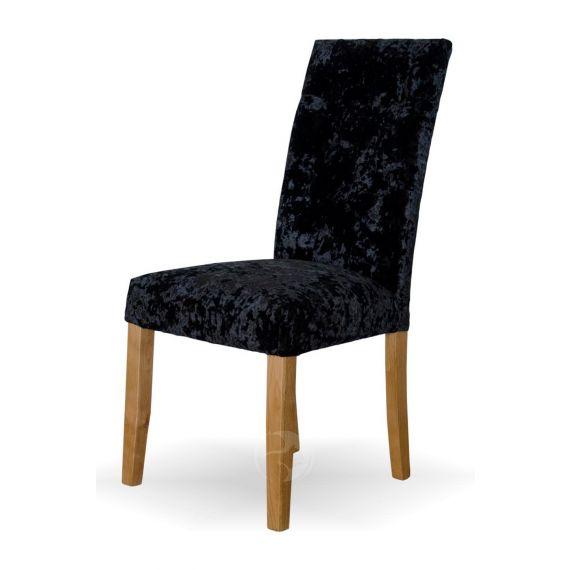 Stockholm Black Deep Crushed Velvet Chair
