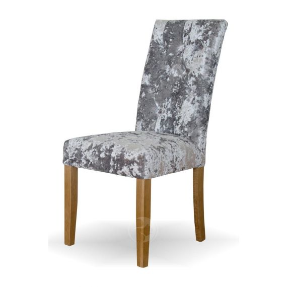 Stockholm Silver Deep Crushed Velvet Chair