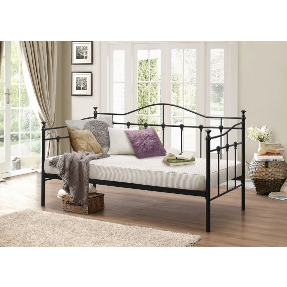 Torino Metal Day Bed - Black