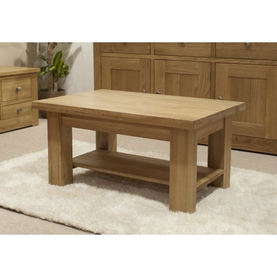 Torino Solid Oak 3x2 Small Coffee Table