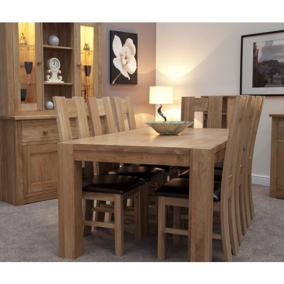 Trend Solid Oak Large Dining Table