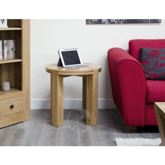 Trend Solid Oak Round Lamp Table | Trend Oak Furniture