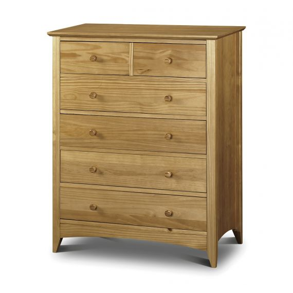 Trent Solid Pine 6 Drawer Chest
