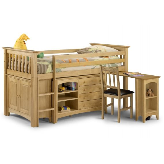Trent Solid Pine Cabin Bed with Storage
