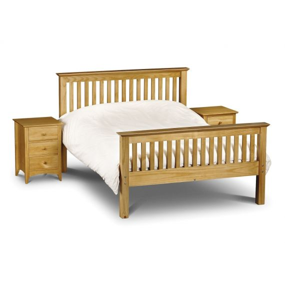 "Trent Solid Pine High Foot End 4' 6"" Double Bed"