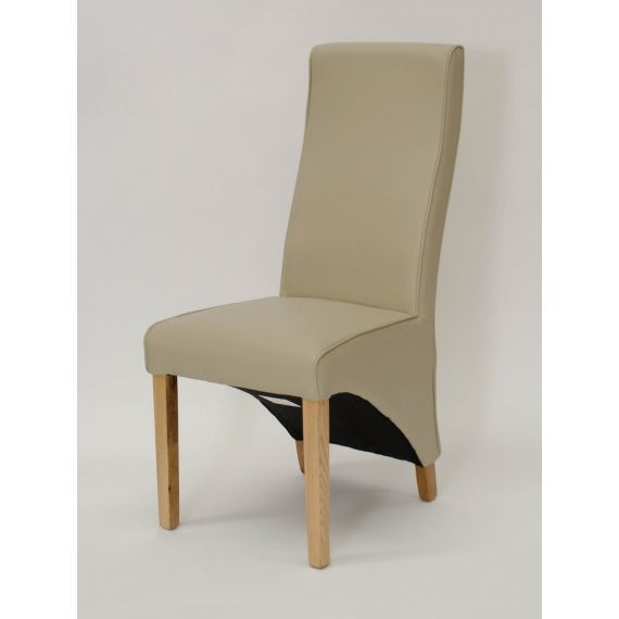 Wave Bone Leather Dining Chair