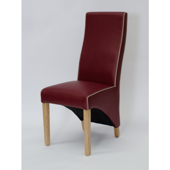Wave Monza Red Leather Dining Chair