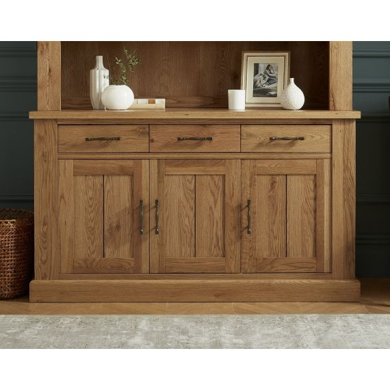 Westbury Rustic Oak 3 Door Large Sideboard - Westbury Furniture