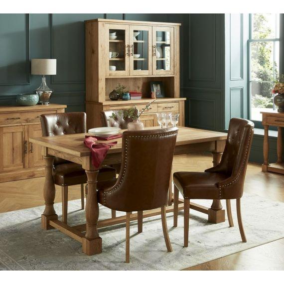 Westbury Rustic Oak Extending Dining Table - Westbury Furniture