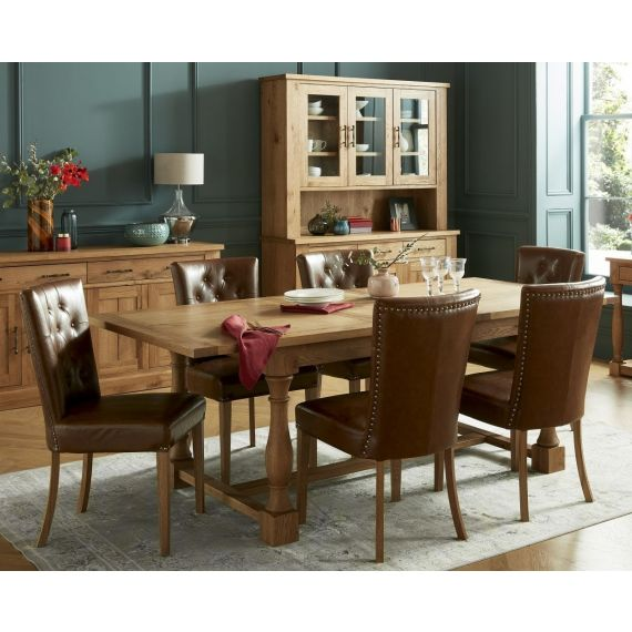 Westbury Rustic Oak Large Extending Dining Table - Westbury Furniture