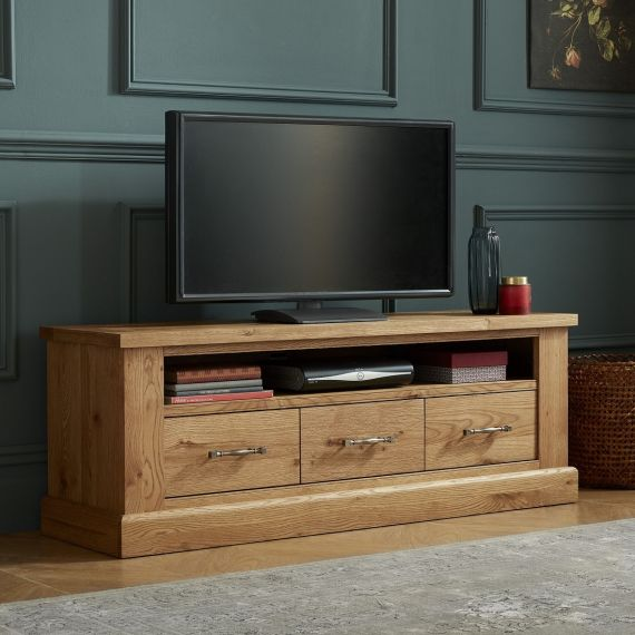 Westbury Rustic Oak Large TV Unit - Westbury Furniture