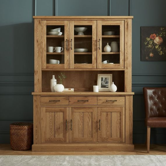 Westbury Rustic Oak Welsh Dresser - Westbury Furniture