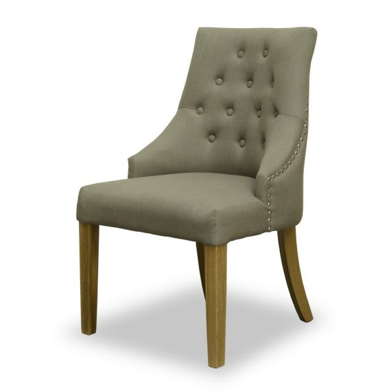Windsor Buttoned Back Fabric Dining Chair