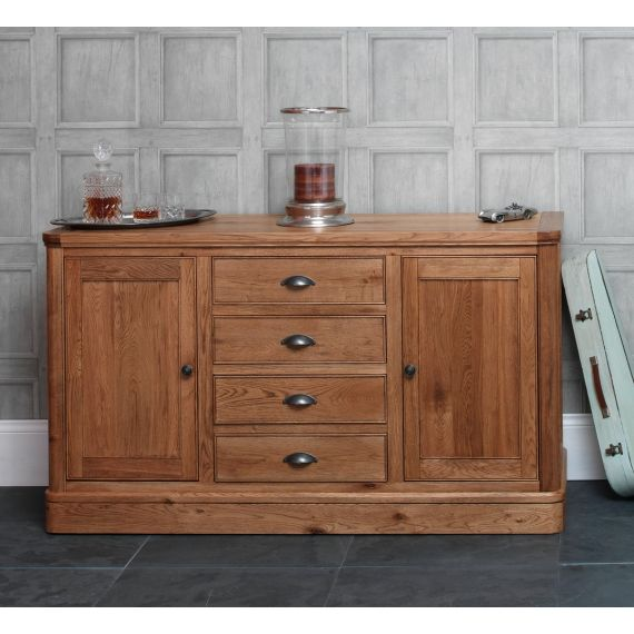Windsor Oak 2 Door Large Sideboard