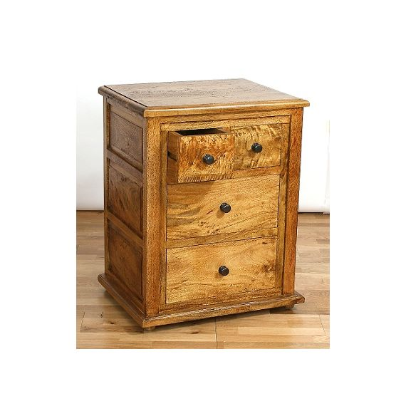 Asian Solid Mango Wood 4 Drawer Chest