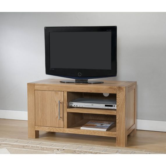 Aylesbury Contemporary Light Oak Small TV Unit