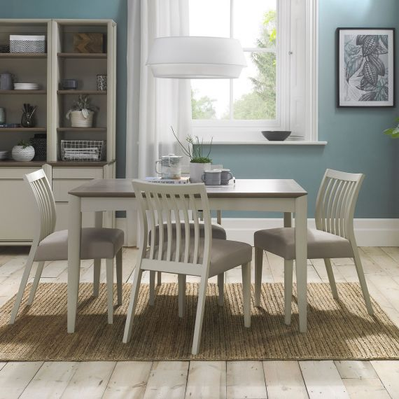 Bergen Grey Washed Oak & Soft Grey Extending Dining Table