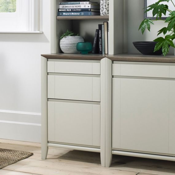 Bergen Grey Washed Oak & Soft Grey Filing Cabinet