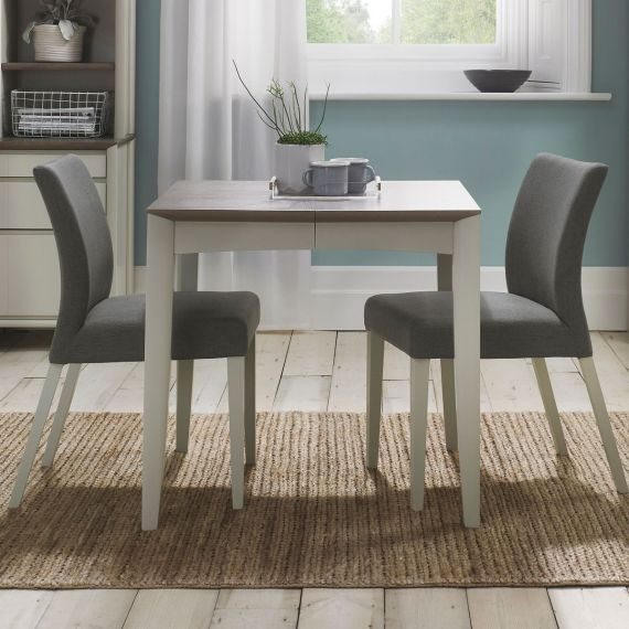 Bergen Grey Washed Oak & Soft Grey Small Extending Dining Table