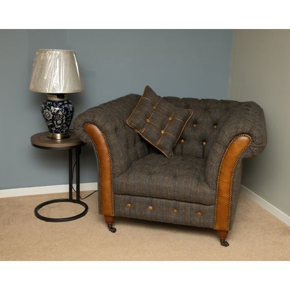 Chester Club Chair Harris Tweed Fast Track