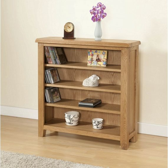 Cotswold Rustic Light Oak Bookcase