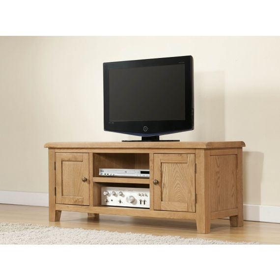 Cotswold Rustic Light Oak Large TV Unit