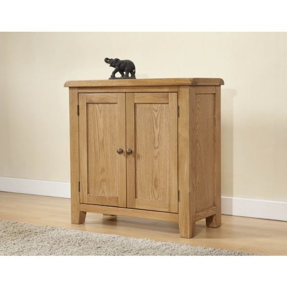 Cotswold Rustic Light Oak Small Cabinet with 2 Doors