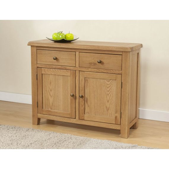 Cotswold Rustic Light Oak Small Sideboard