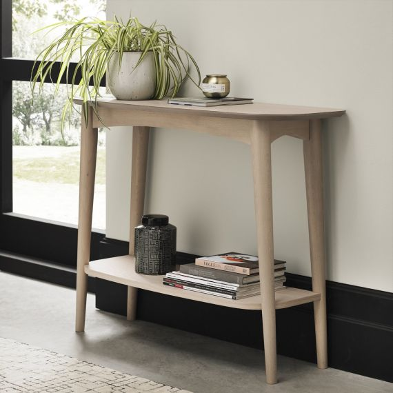 Dansk Scandi Oak Console Table with Shelf