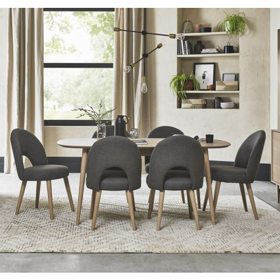 Dansk Scandi Oak Extending Dining Table - 6-8 Seater