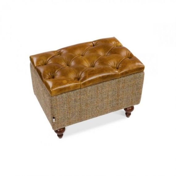 Granby Buttoned Footstool - Bespoke