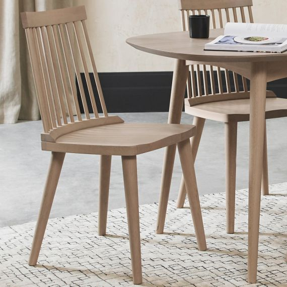 Spindle Dining Chair - Scandi Oak (Pair)