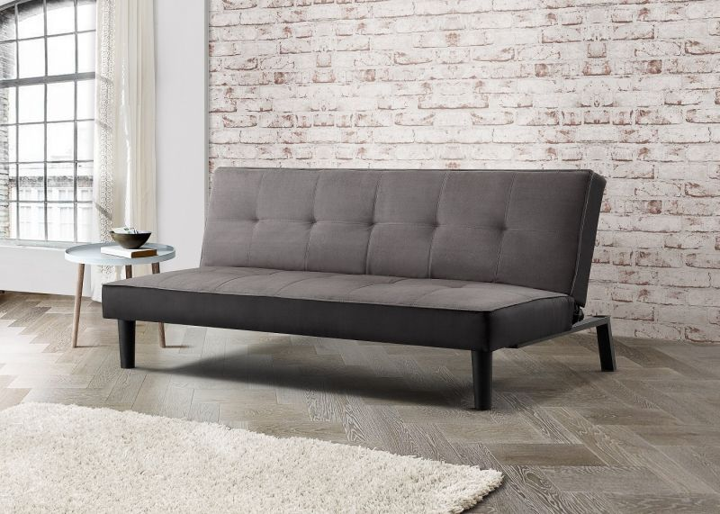 Aurora Grey Velvet 3 Seater Sofa Bed
